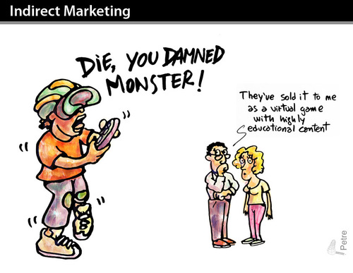 Cartoon: Indirect Marketing (medium) by PETRE tagged children,education,playstation