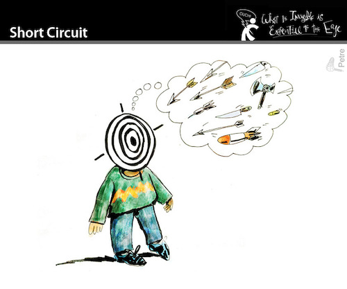 Cartoon: Short Circuit (medium) by PETRE tagged shortcircuit,attack,pesimism,fatality