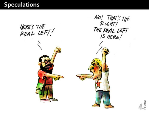 Cartoon: Speculations (medium) by PETRE tagged politics,ideology,left,workers,party