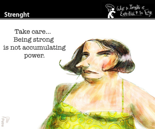 Cartoon: Strenght (medium) by PETRE tagged power,politics,people
