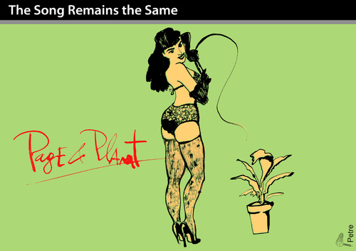 Cartoon: The Song Remains the Same (medium) by PETRE tagged the,whip,leather,bondage,plants,maso,sado,music,rock