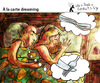 Cartoon: A la carte dreaming (small) by PETRE tagged sleeping dreaming