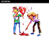 Cartoon: All Off Me (small) by PETRE tagged love,couples,fights
