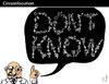 Cartoon: CIRCUMLOCUTION (small) by PETRE tagged knowledge,wisdom,information,science