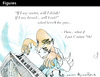 Cartoon: Figures (small) by PETRE tagged music language poetry
