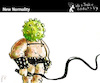 Cartoon: New Normality (small) by PETRE tagged world,covid19,coronavirus,plague,sadomaso