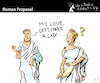 Cartoon: Roman Proposal (small) by PETRE tagged romans,69,sex,couples
