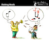 Cartoon: Shaking Heads (small) by PETRE tagged musician,music,bad,horrible,views