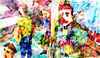 Cartoon: Sketch from january (small) by PETRE tagged street clowns