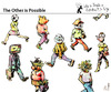 Cartoon: The Other is Possible (small) by PETRE tagged people,toughts,ideologies,society
