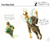 Cartoon: Two Way Path (small) by PETRE tagged heaven,paradise