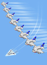 Cartoon: Luftpaperplane (small) by fritzpelenkahu tagged a380