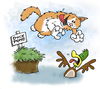 Cartoon: lindas cat (small) by east coast cartoons tagged cat cats duck