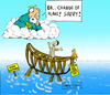 Cartoon: OK change of plans Sorry (small) by Matthias Stehr tagged ceo,noah,arche,ark,communication,god