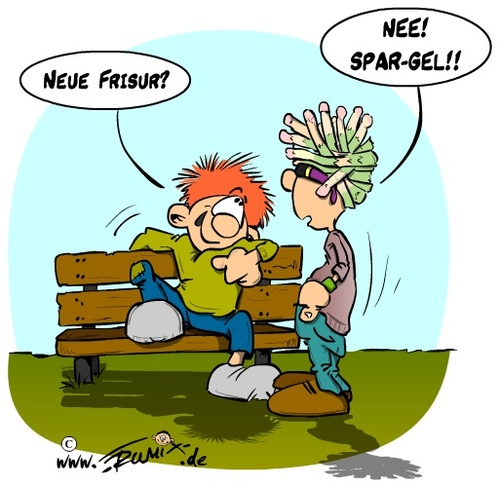 Cartoon: Neue Frisur (medium) by Trumix tagged spargel,spar,gel,frisur,haare,styling,hairstyle,trummix,lifestyle