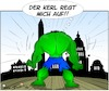 Cartoon: Nur die Ruhe (small) by Trumix tagged hulk trump washington präsident usa amerika chaos donald