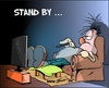 Cartoon: Stand by (small) by Trumix tagged standby,energie,tv,fernsehen,rtl,programme,sofa,sessel,bewegungsmangel