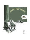 Cartoon: Happy New Year... (small) by Hule tagged santa,klaus