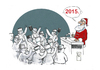 Cartoon: New Year... (small) by Hule tagged holidays