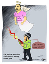 Cartoon: Dale Burns killed by UK Police (small) by victorh tagged dale,burns,uk,police,taser,gun