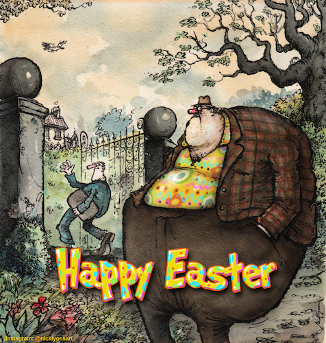 Cartoon: Happy Easter (medium) by Nick Lyons tagged easter
