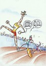 Cartoon: doping test (small) by Petra Kaster tagged sport,olympia,leichtatlethik,doping,klonen,dna