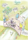 Cartoon: generationenbrücke (small) by Petra Kaster tagged alter,senioren,zähne,familie,parks,bräuche,zeit,generationen