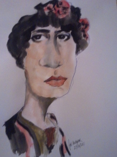 Cartoon: Spanish lady (medium) by jjjerk tagged caricature,cartoon,woman,spanish,spain