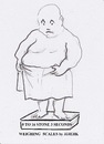 Cartoon: 0 to 16 stone in 3 seconds (small) by jjjerk tagged fat,man,shiny,weighing,scales,cartoon,caricature,birthday