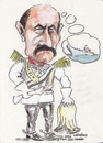 Cartoon: 2 Bismarcks (small) by jjjerk tagged bismarck,otto,von,prussian,german,chancellor,cartoon,famous,helmet,caricature,ship,battleship