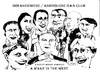Cartoon: Actors in a play (small) by jjjerk tagged actors,ireland,irish,cartoon,caricature,black,white