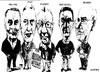 Cartoon: Bell Art Group (small) by jjjerk tagged bell,art,group,darndale,cartoon,caricature,glasses,irish,ireland,artists,painters