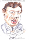 Cartoon: Brian Cowan (small) by jjjerk tagged cowan,brian,fianna,fail,irish,ireland,cartoon,caricature,politician,glasses