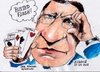 Cartoon: Busted Flush (small) by jjjerk tagged barroso manuel jose busted flush cartoon caricature cards spades hearts diamonds clubs ec lisbon portugal spain ireland president cyprus