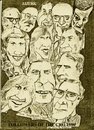 Cartoon: Cro followers (small) by jjjerk tagged cro,players,cartoon,1988,dublin,ireland,actors,irish,caricature