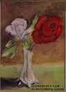 Cartoon: Flowers in a vase (small) by jjjerk tagged rose,flowers,vase,cartoon,caricature,wexford,ireland,glass