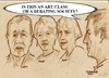 Cartoon: Is this an art class? (small) by jjjerk tagged art,coolock,library,group,cartoon,caricature,painters,philip,liam,anne,mona