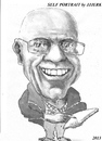 Cartoon: jjjerk (small) by jjjerk tagged jjjerk self portrait irish ireland black white cartoon caricature
