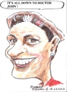 Cartoon: Margaret (small) by jjjerk tagged margaret,red,cartoon,caricature,curlers,earring,play