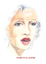 Cartoon: Marlyn (small) by jjjerk tagged marlyn,monroe,cartoon,caricature,river,of,no,return,portrait,actress,actor,movie,star