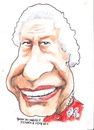 Cartoon: Queen Elizabeth 11 (small) by jjjerk tagged queen elizabeth english england red monarchy cartoon portrait caricature