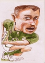 Cartoon: Tommy Bowe (small) by jjjerk tagged tommy,bowe,irish,ireland,osprey,rugby,ball,cartoon,green,caricature,guinness,player