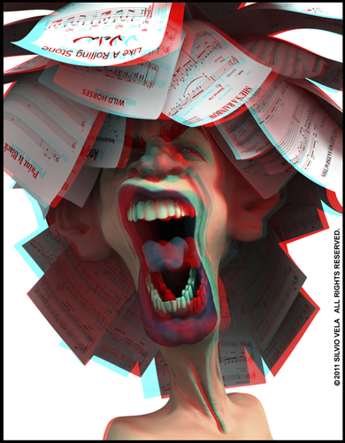 Cartoon: Mick Jagger (medium) by Silvio Vela tagged music,rock,vela,silvio,of,caricatures,illustration,cartoon,caricature,stereo,3d,image,anaglyph,stones,rolling,the,jagger,mick