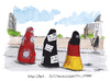 Cartoon: burkastreit (small) by plassmann tagged islam,burka
