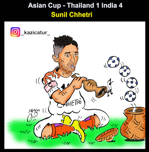 Cartoon: asian cup (medium) by Hossein Kazem tagged asian,cup