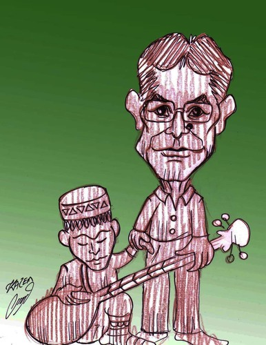 Cartoon: father and son (medium) by Hossein Kazem tagged father,and,son