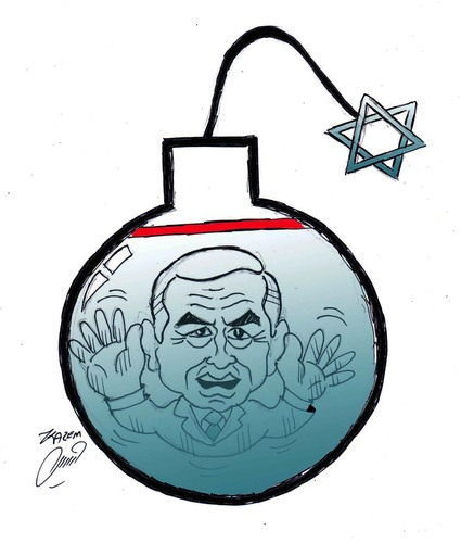 Cartoon: netanyahu (medium) by Hossein Kazem tagged netanyahu