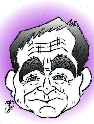 Cartoon: Robin Williams dead (medium) by Hossein Kazem tagged robin,williams,dead