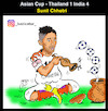 Cartoon: asian cup (small) by Hossein Kazem tagged asian,cup