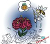 Cartoon: bee (small) by Hossein Kazem tagged bee